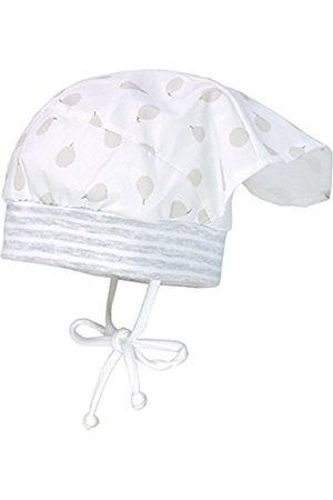 maximo Baby Girls' Kopftuchmütze Birne, MIT Bindeband Hat, Weiß (Artikweiss/Silber-Birnen 15)