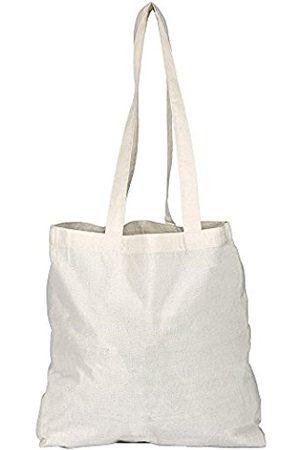 eBuyGB Pack of 3 Cotton Shopper 1205813-3a Canvas & Beach Tote Bag