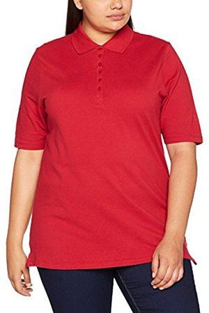 Ulla Popken Women's Polopiquee Shirt Longsleeve T-Shirt