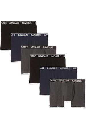 NAVIGARE Men's 573/E (Pacco Da 6) Boxer Shorts, Multicolore (Grigio/Nero/Navi)