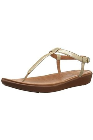 FitFlop Women's Tia Thong Leather Open Toe Sandals