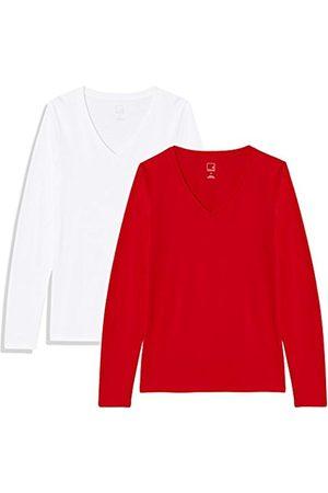 MERAKI Women's V Neck T-Shirt, Pack Of 2