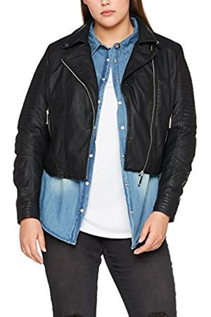 Simply Be Women's Biker Jacket Leather Jacket Long Sleeve Jacket