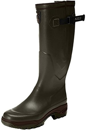 Aigle Unisex-Adults PARCOURS 2 VARIO Wellington Boots Hunting Shoes, (Kaki)