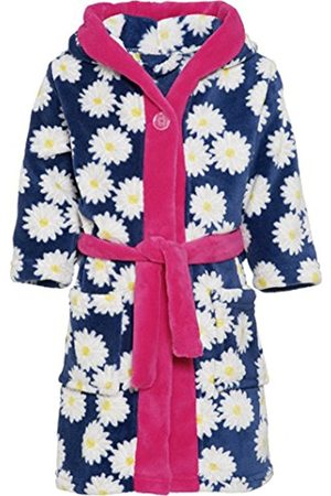 Playshoes Girl's Fleece Morgenmantel Margeriten Dressing Gown, (Navy)