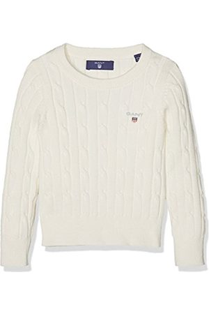 GANT Girl's O. Stretch Cotton Cable Crew Jumper