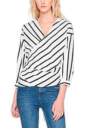 Only Women's Onlbetty 7/8 Wrap Stripe Wvn Blouse