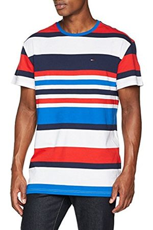 Tommy Hilfiger Men's Tjm Multistripe Tee T-Shirt, (Nautical /Multi 901)