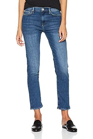 True Religion Women's Hight Waist Tencel Straight Jeans