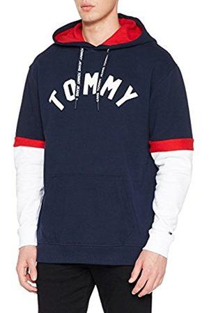 Tommy Hilfiger Men's Tjm Colorblock Hoodie Sweatshirt, ( Iris/Multi 901)