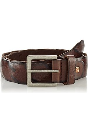 Lindenmann The Art of Belt by Mens leather belt/Mens belt, full grain leather belt buffalo leather, Unisex, dark brown