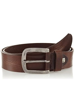 Lindenmann The Art of Belt Mens leather belt/Mens belt, full grain leather belt, unisex, dark , Größe/Size:85