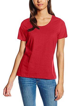 Trigema Women's 539201 Regular Fit Crew Neck Short Sleeve T - Shirt - Red - Large