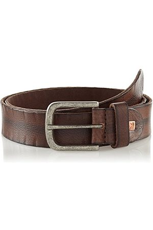 Lindenmann The Art of Belt by Mens leather belt/Mens belt, full grain leather belt buffalo leather, Unisex, dark brown