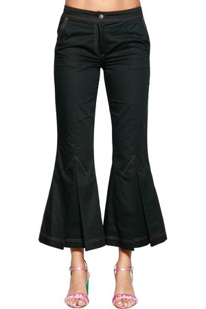 MARCO DE VINCENZO FLARED COTTON DRILL PANTS