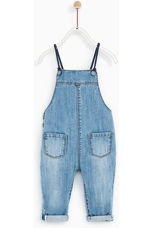 Zara DENIM DUNGAREES WITH BRACES DETAIL
