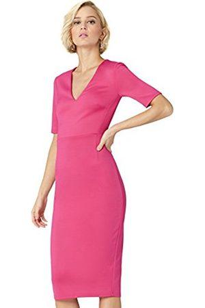 TRUTH & FABLE Women's Dress Midi V-Neck