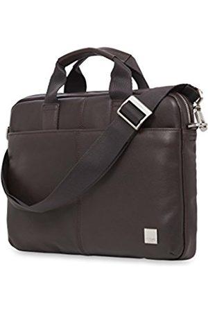 "Knomo 154-258-BRN""Stanford"" Slim Leather Briefcase for 13-Inch"