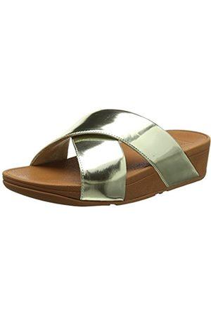 FitFlop Women Lulu Cross Slide Mirror Open Toe Sandals