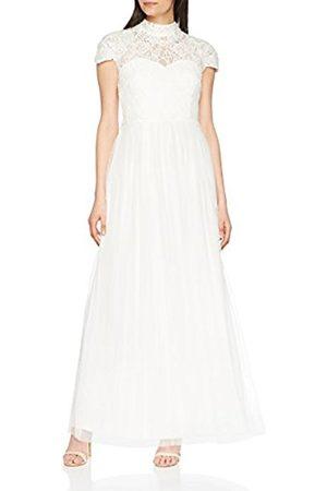 Little Mistress Women's Lace High Neck Bridal Party Dress, (Ivory)