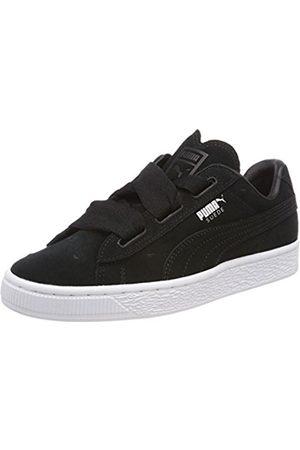 sports shoes b5753 11115 Girls Suede Heart Jr 365135-02 Low-Top Sneakers