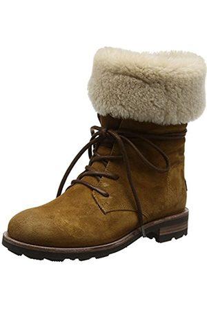 Shabbies Amsterdam Women's Combat Boots (Cognac) Size: 6 UK (39 EU)