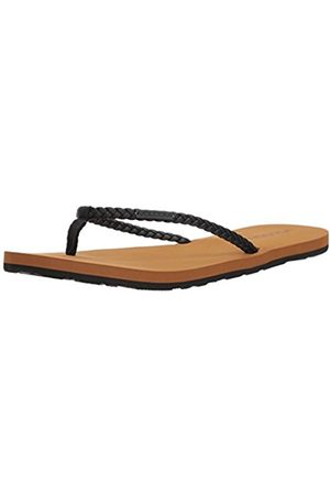 Volcom Women's Weekender Braided Synthetic Leather Strap Fashion Flat Sandal