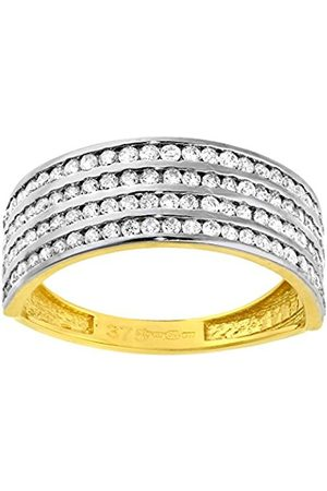 a3a9419b6548e Women's 9 ct Gold Pave Set 4 Row Cubic Zirconia Half Eternity Ring