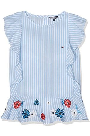 Tommy Hilfiger Girl's Quirky Stripe Ruffle Top Slvls Blouse