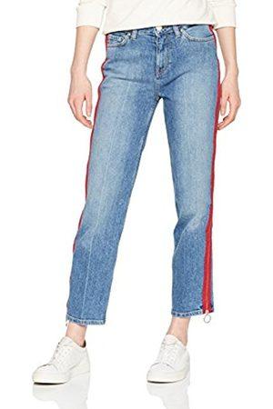 Tommy Hilfiger Women's Slim Straight HW Ankle sada Boyfriend Jeans