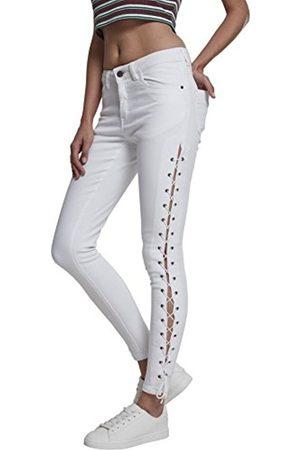 Des Femmes Des Dames Denim À Lacets Pantalon Jean Slim Classique Urbain qDXgOd