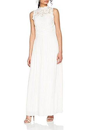 Little Mistress Women's Lace Pleat Bridal Party Dress, (Ivory)
