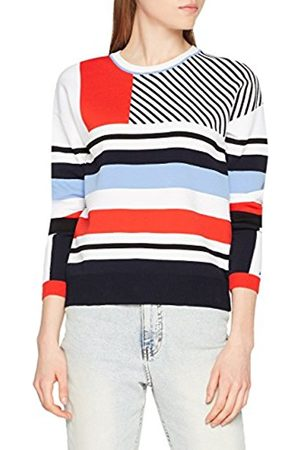 Tommy Hilfiger Women's Pilaux Graphic C-NK Swtr Jumper, (Classic / Beauty/Multi 901)