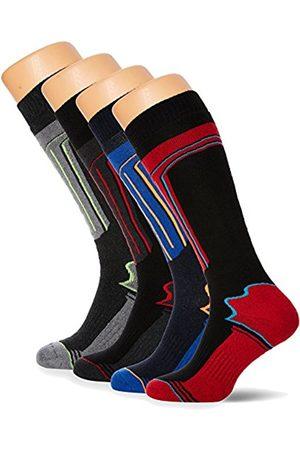 FM London Men's Thermal Ski Multipack Knee-High Socks, Multicoloured (Assorted)