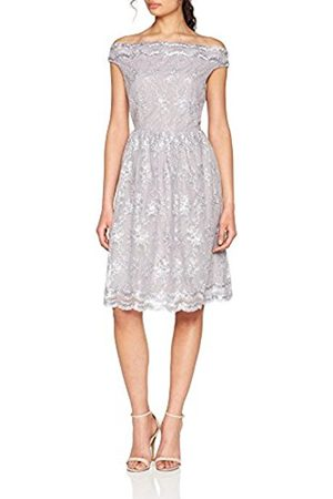 Little Mistress Women's Ditsy Floral Embroidered Mesh Party Dress