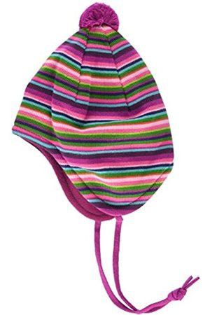 maximo Girl's Mütze gestreift, Pompon, Bindeband, Fleecefutter Hat