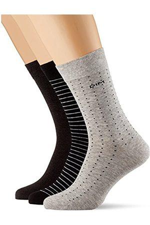 Dim Men's Mi-Chaussette Coton Rayures Et Pois x3 Socks