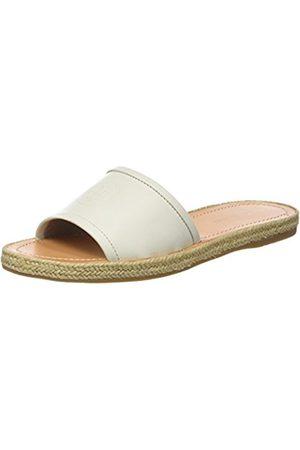 Tommy Hilfiger Women's Leather Flat Mule Open Toe Sandals