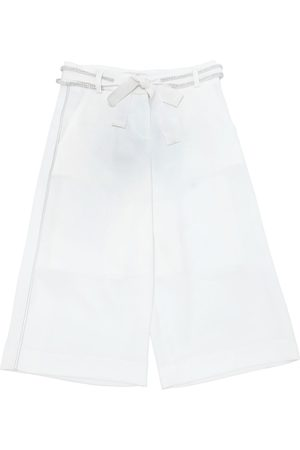 MISS GRANT COTTON CREPE DE CHINE WIDE LEG PANTS