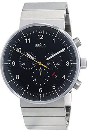 von Braun Men's Quartz Watch with Black Dial Analogue Display and Stainless Steel Bracelet