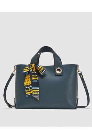 d9114e6e1450 Zara MINI MONOCHROME TOTE BAG
