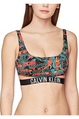 Calvin Klein Women's Strap Bralette-RP-Print Bikini Top