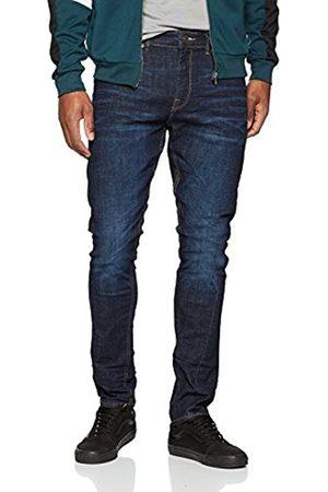 New Look Men's Rinse Twise Seam Skinny Jeans, (Navy)