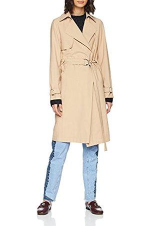 New Look Women's Bella Drape Trench Coat, (Stone)