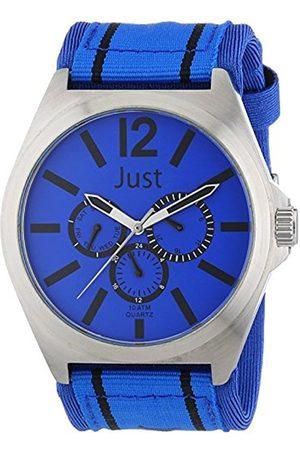 Just Watches Men's Watch XL Analogue Quartz 48–Textile S3927–Bl