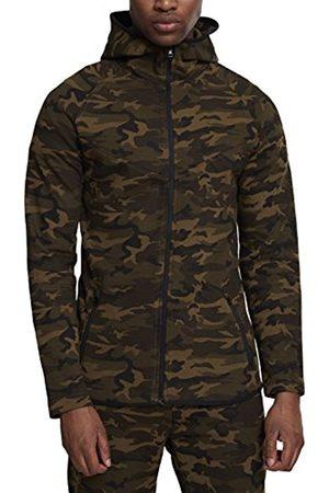 Urban classics S Men's Interlock Camo Zip Jacket Sports Hoodie