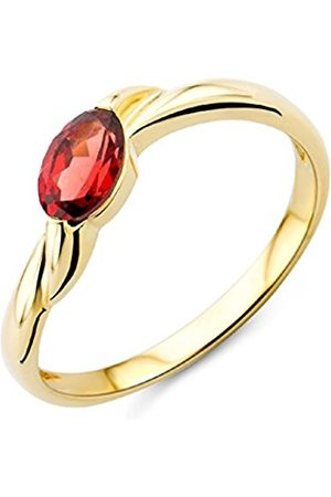 Miore Ladies 9ct Yellow Gold Garnet Engagement Ring - Size Q 1/2