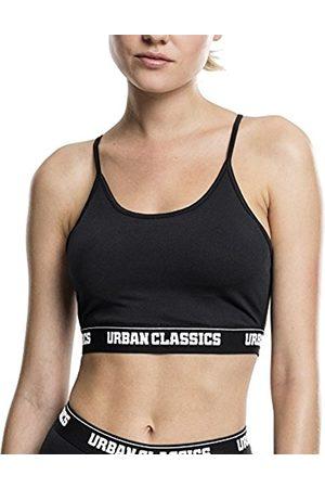 Urban Classics Ladies Triangle Logo Sport Bra Jacquard Logo Band Damen Lady BH