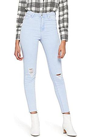 FIND Women's Distressed High Rise Skinny Jeans