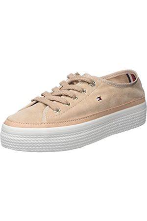 Tommy Hilfiger Women's Suede Flatform Low-Top Sneakers